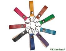 Leather Keychain Hanger - Multiple Colours