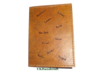 Leather Passport Cover - Capital Cities