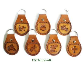 Leather Picture Key Rings