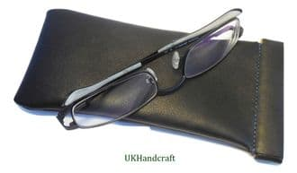 Leather Snap Top Glasses Specs Case Pouch