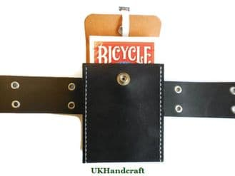 Playing Card Deck Leather Case with Belt Loop