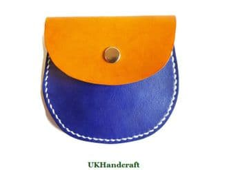 Two Tone Pocket Leather Coin Purse
