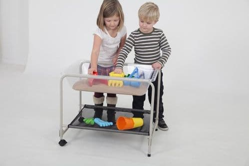 Clear Tabletop Sand & Water Tray with Stand (Free Delivery)
