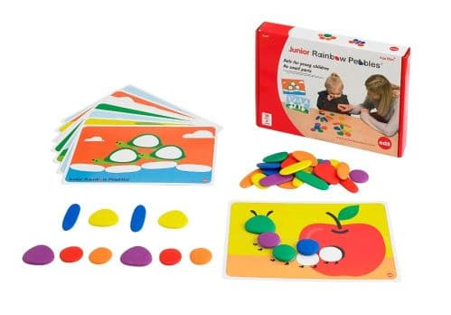 Junior Rainbow Pebbles Activity Set 36pk + 8 Activity Cards