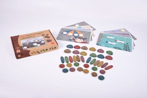 Junior Rainbow Pebbles Eco Friendly 36pk + 8 Activity Cards
