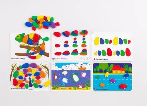 Rainbow Pebbles Activity Set 48pk + 12 Activity Cards