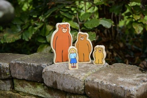 Wooden Character Set - Goldilocks and the Three Bears *UPDATED DESIGN*