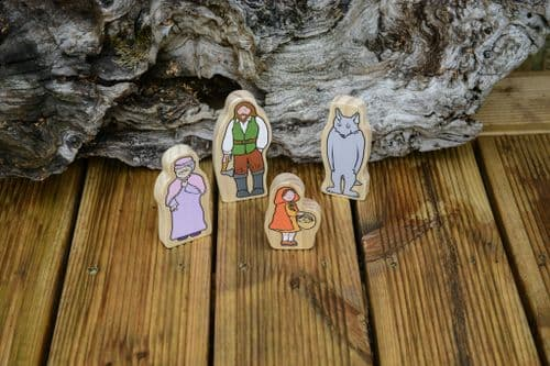 Wooden Character Set - Little Red Riding Hood *UPDATED DESIGN*