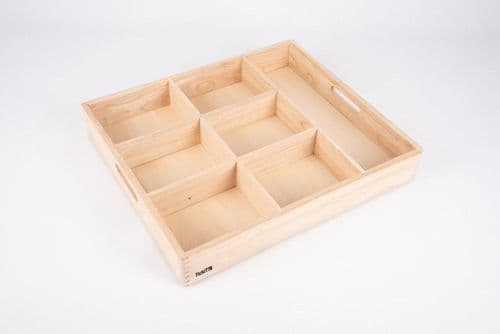 Wooden Large Sorting Tray - 7 Way