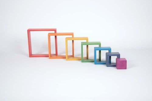 Wooden Rainbow Architect Squares 7pk