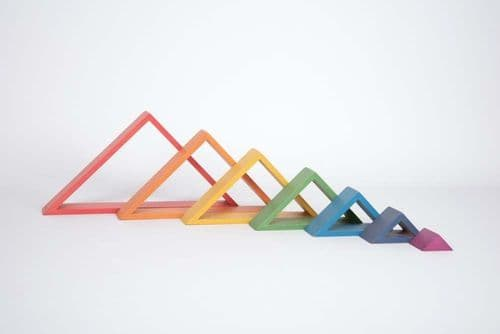 Wooden Rainbow Architect Triangles 7pk