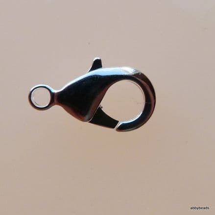 Trigger catch 12mm Silver plated. 5pr.