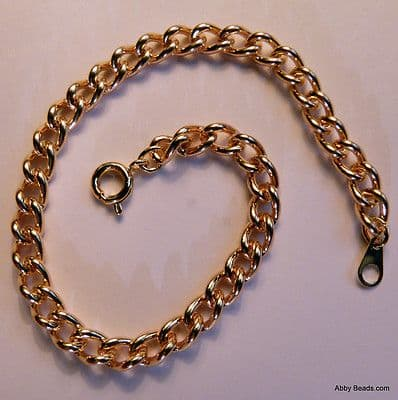 "Curb chain necklace Gold plated 18""   Top Quality"