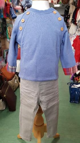 Baby Boys Spanish Check Jumper & Trouser Set by Newness