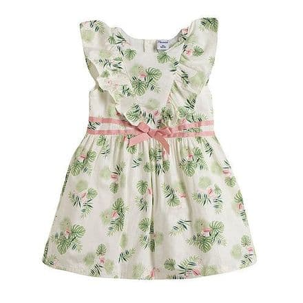 Girls Floral Flamingo Print Summer Dress - Designer Newness