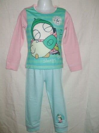 Girls Sarah & Duck Print Long Pyjama Set