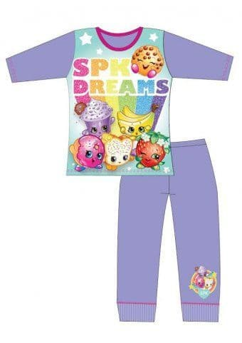 Girls Shopkins Print Long Pyjama Set