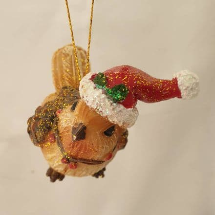 Hanging Rustic Robin Christmas Decoration