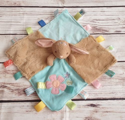 Harmony Bunny Taggies Taggy Comforter Blanket by Mary Meyer Baby