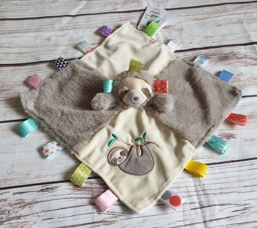 Molasses Sloth Taggies Taggy Comforter Blanket by Mary Meyer