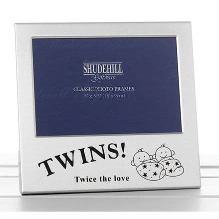 New Baby Twins Frame Gift