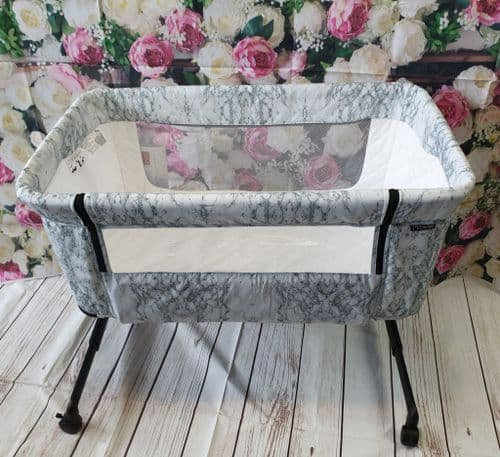 SOLD My Babiie Grey Marble Beside Crib Cot - In Store Purchase