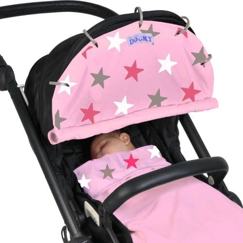Sun Shade Pink Stars - By Dooky