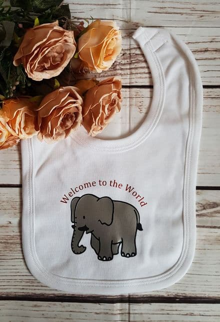 Welcome to the World Elephant Bib