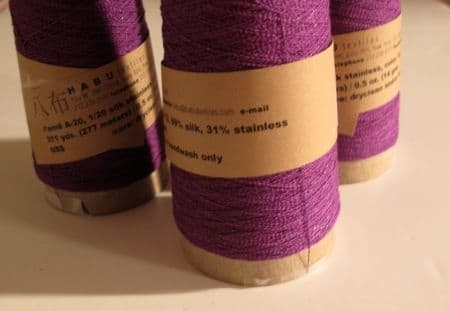 Habu textiles - 1/20 Silk stainless steel - Purple