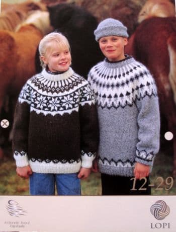 Lopi pattern for young girls and young mans sweaters