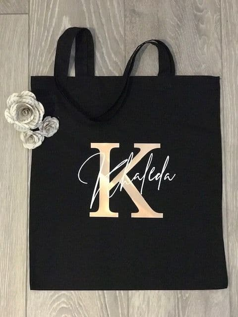 Initial Personalised Tote Bag