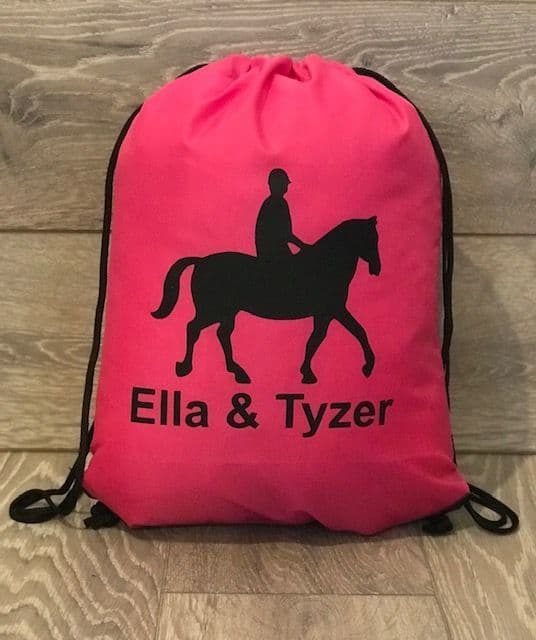 Personalised Horse Grooming Kit Drawstring Bag - Quadra