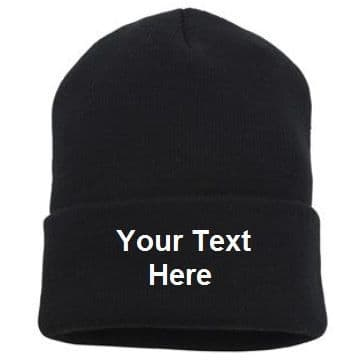 Personalised Knitted Hat turn-up beanie - Nutshell NS001