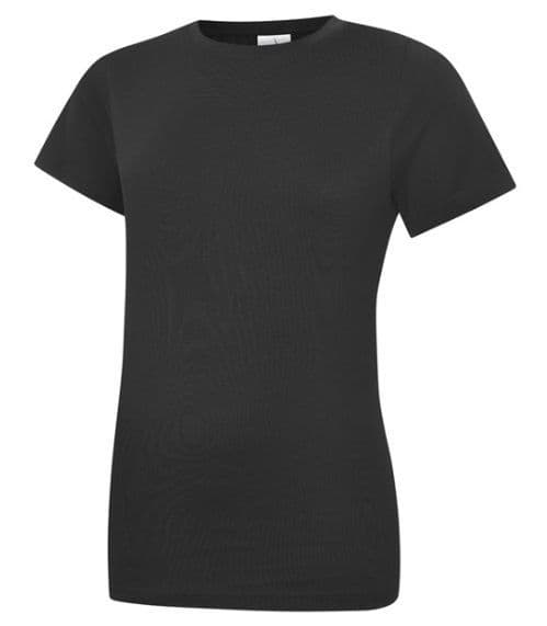 White Court Dance T Shirt Round Neck Fitted
