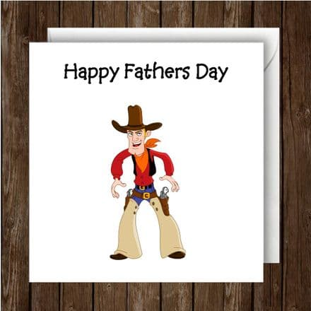 Father's Day Card. Cowboy character