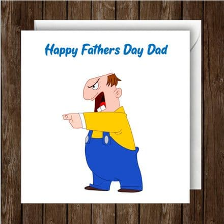 Father's Day Card. Mr angry character