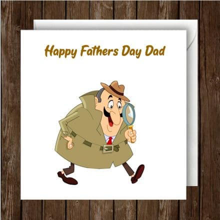 Father's Day Card. Spy character