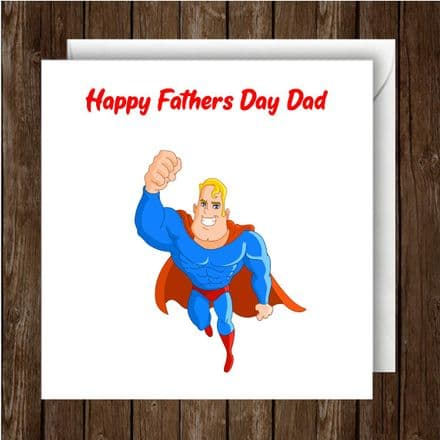 Father's Day Card. Superman character