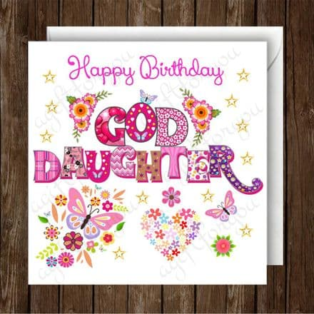 Happy Birthday God Daughter Greeting Card