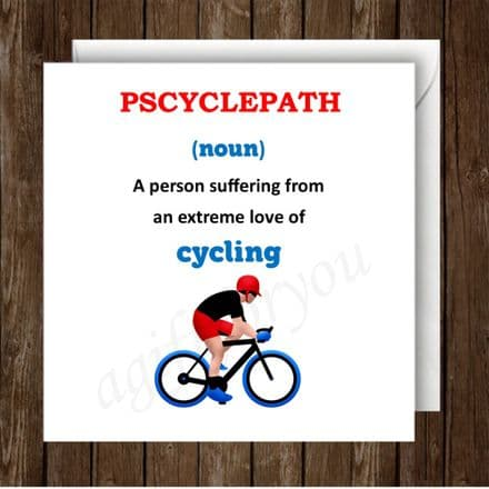 Humour Cycling Card