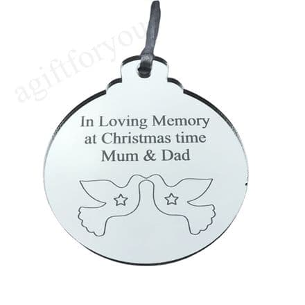 Memorial Christmas Tree Bauble - Because someone we love (1)