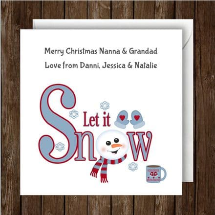 Personalised Christmas Card Let It Snow