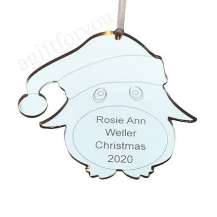 Personalised Penguin tree decoration
