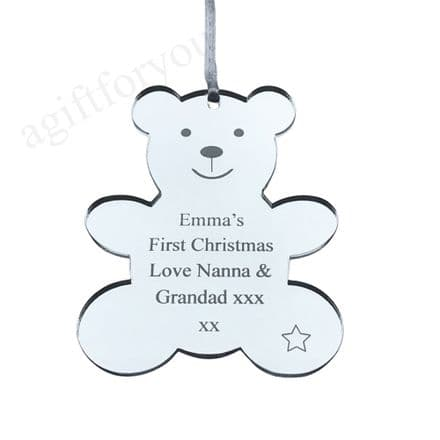 Personalised Teddy Bear Tree Decoration