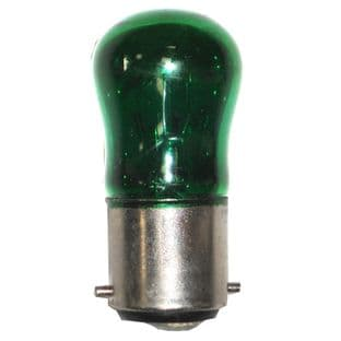 15w Pygmy bulb - Green BC fitting