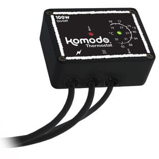 Komodo ON/OFF thermostat for heat sources up to 100W