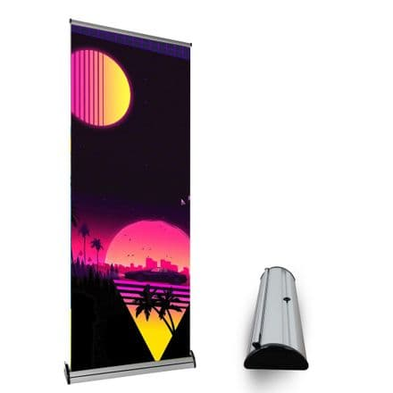 Adjustable Premium Roller Banner Stand With Large Internal Graphic Housing and Tensioner- CCBAWH321C