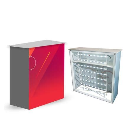 Premium Backlit Double-Sided Display System Banner Stand  - CCEMB-PL-3X1-S