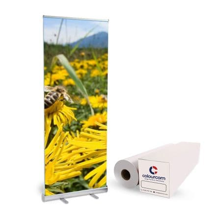 Print Your Own Banner Stand Kit 12 Pack + 1 Roll No Trimming Needed