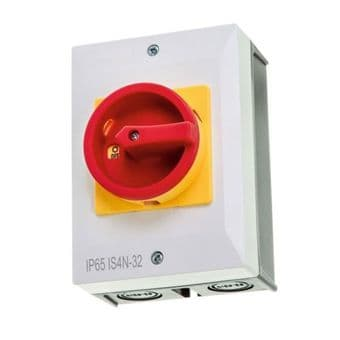 32A 4 Pole Rotary Isolator Switch IP65